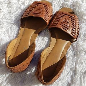 Franco Sarto Viola Flat Braided Sandals Size 7.5